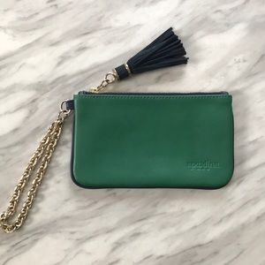 Spartina 449 Green Leather Wristlet Wallet Clutch